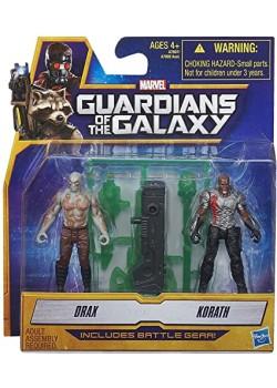 Figuras Drax & Korath - Guardianes de la Galaxia - Marvel - Hasbro