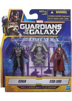 Figuras Ronan & Peter Quill - Guardianes de la Galaxia - Marvel - Hasbro